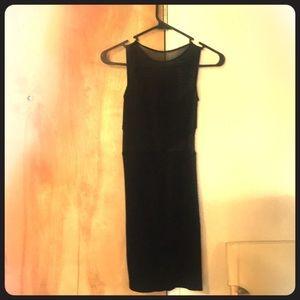 Bebe black sheer cutout sexy cocktail dress